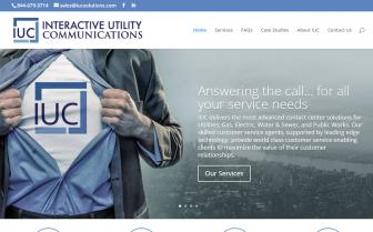 screenshot of IUC's website