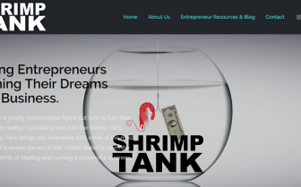 The Shrimp Tank Podcast website