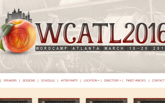 A screenshot of the Wordcamp Atlanta 2016 website