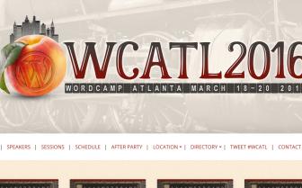 A screenshot of the Wordcamp Atlanta 2016 website