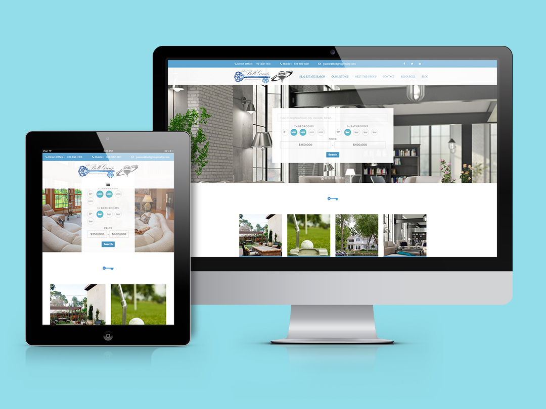 Screenshot of Bolt Group Realty after redesign