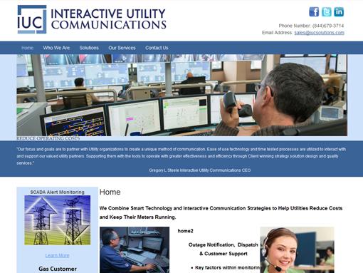 IUC's website before redesign
